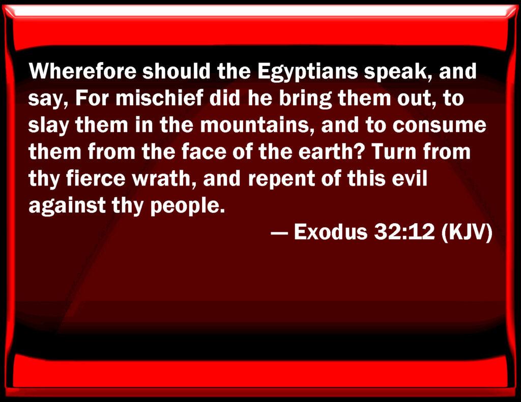 Repent in Exodus 32:12