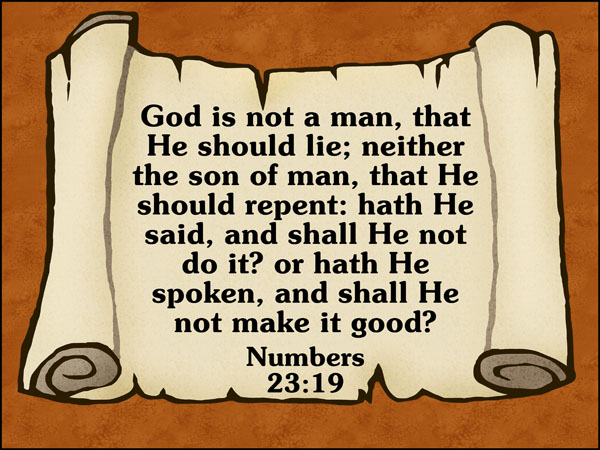 Repent in Numbers 23:19